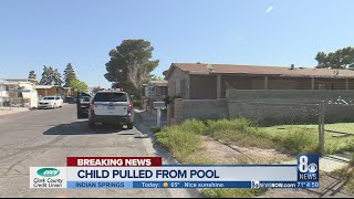 Child in critical condition after being pulled from backyard swimming pool; Metro Police investigati