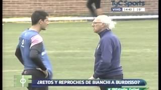 ¿Bianchi retó a Burdisso por no respetar a la autoridad?