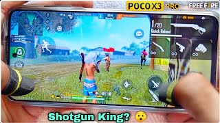 Poco x3 pro free fire gameplay test 2 finger claw handcam m1887 onetap headshot SD860 CPU smoothaf