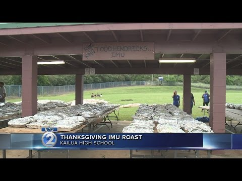 Kailua High School fires up imu for Thanksgiving fundraiser