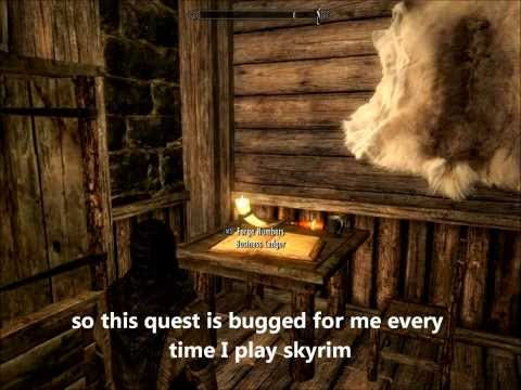 Skyrim Thieves Guild Quest The Numbers Job Riften (bug)