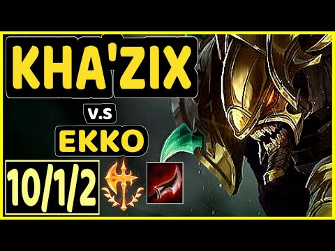 AGURIN (KHA'ZIX) Vs EKKO - 10/1/2 KDA JUNGLE CHALLENGER GAMEPLAY - EUW