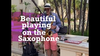 Beautiful playing on the saxophone