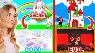 NEW *SECRET* GOOD VS EVIL Build Challenge In Adopt Me! (Roblox)