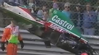 Zanardi's huge crash - Spa 1993