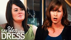 Catfight on the Catwalk Almost Ruins Bride's Day | Say Yes To The Dress Bridesmaids