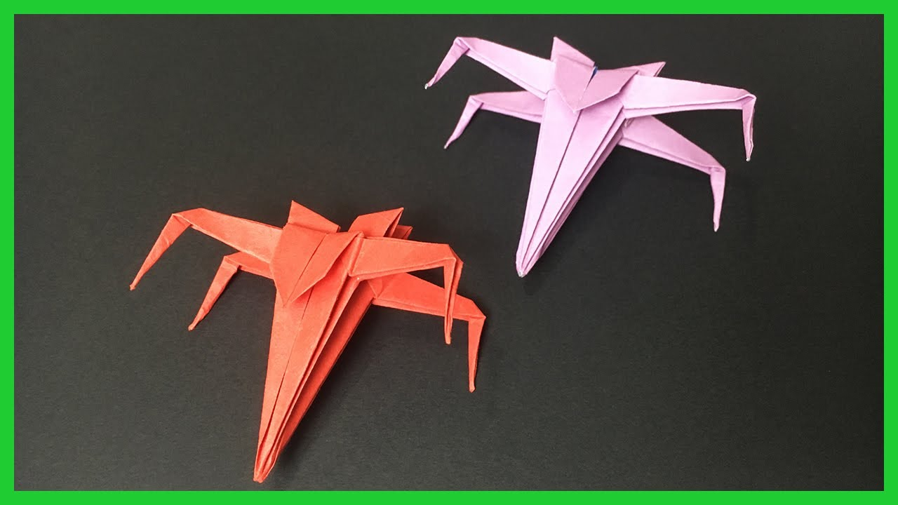 X-Wing Fighter origami diagram Easy version 1 | If you finis… | Flickr | 720x1280
