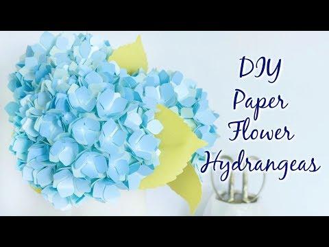 Paper Flower Hydrangeas - Tutorial and Templates
