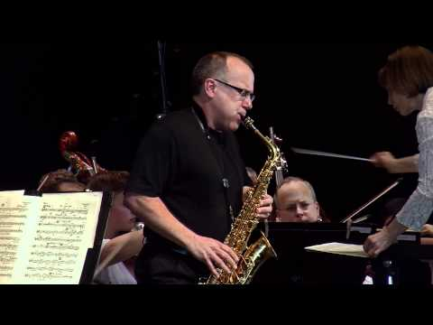 GLAZUNOV Concerto for Alto Saxophone and String Orchestra wi