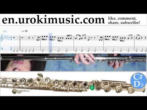 How to Play Flute Charlie Puth - Attention Tabs Part#2 um-i352