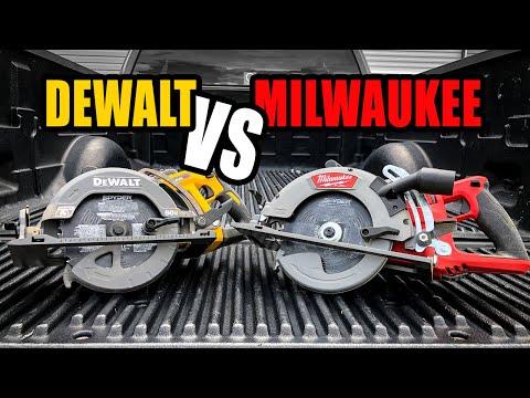 DeWalt vs Milwaukee | Best Cordless Rear Handle Worm-Drive Style Circular Saw Head to Head