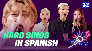 Download lagu KARD sings Bomb Bomb in Spanish Try lingual Live 카드