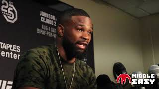 Tyron Woodley talks about Darren Till's self belief, says Covington should be embarrassed