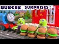 Funny Funlings McDonald's Drive Thru  Burger Surprises with Thomas and Friends and Play Doh TT4U