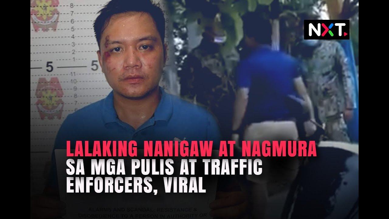 Download Lalaking nanigaw at nagmura sa mga pulis at traffic enforcers, viral | NXT