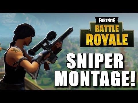 fortnite battle royale sniper montage new 50v50 game mode - sniping montage fortnite