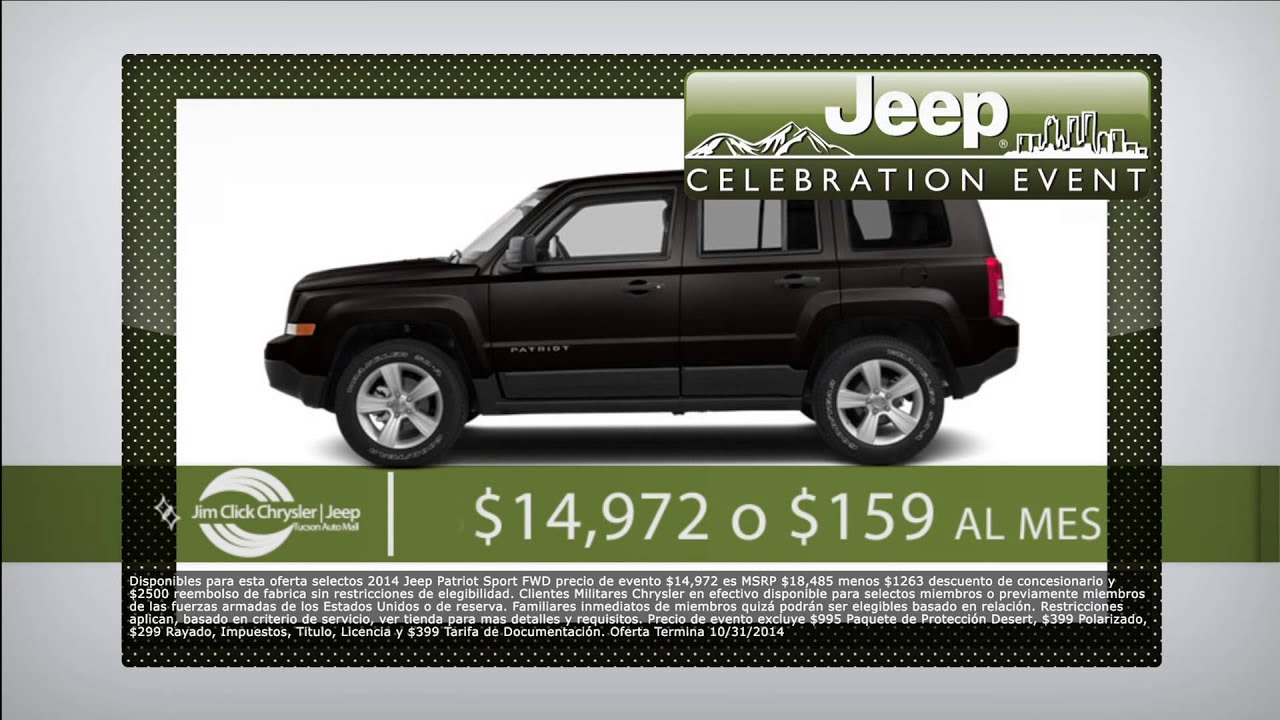 Jeep Patriot Is On Sale At The Jim Click Chrysler Jeep