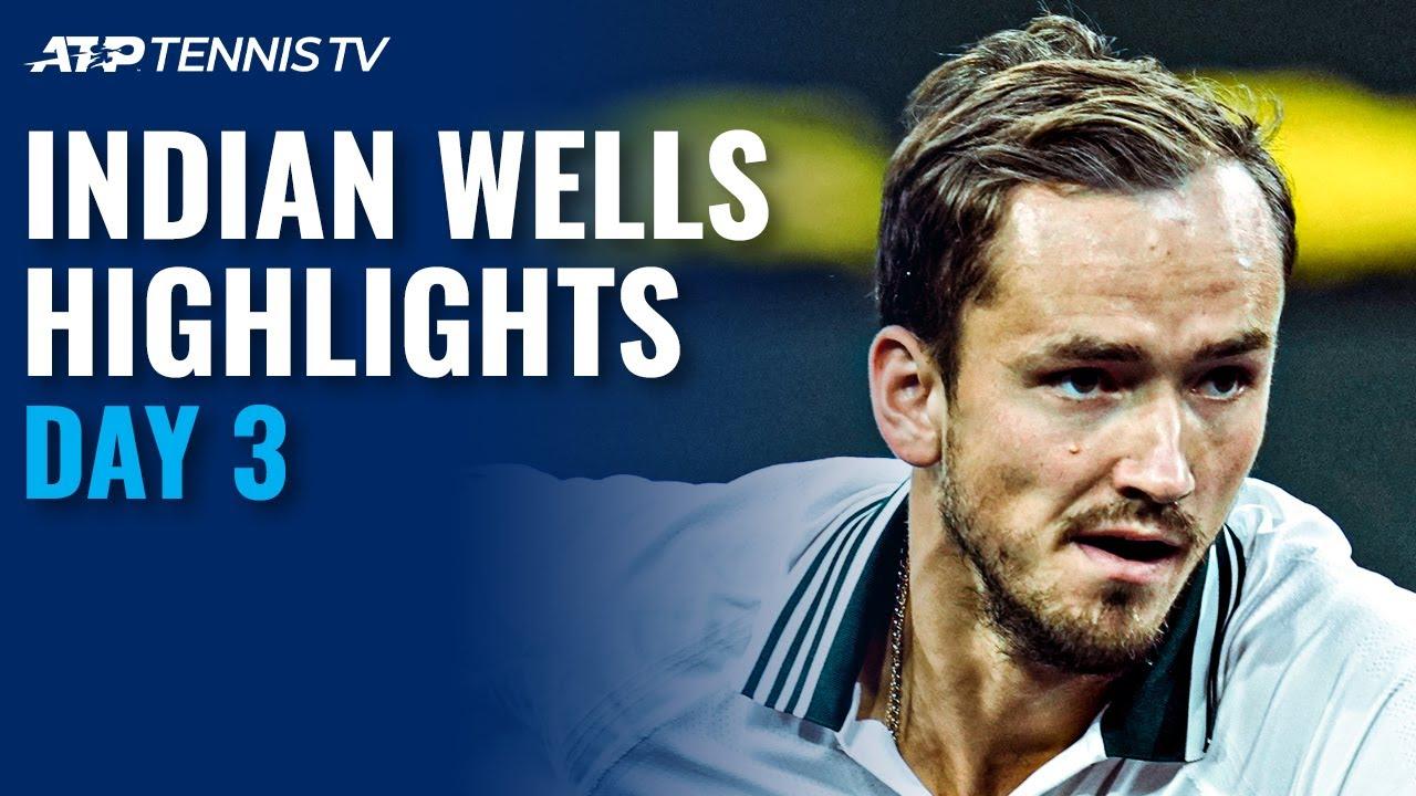 Medvedev faces McDonald; Rublev Takes on Taberner | Indian Wells 2021 Day 3 Highlights