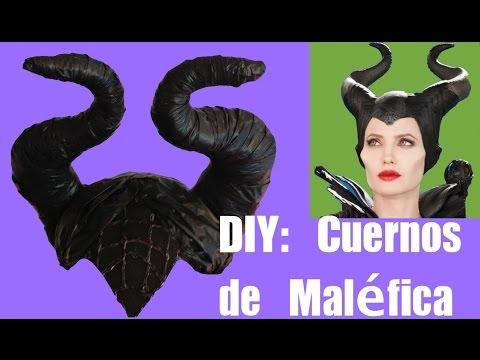 Cómo hacer los cuernos del disfraz de Maléfica. Disfraz casero Halloween. Ideas FACILES DIY