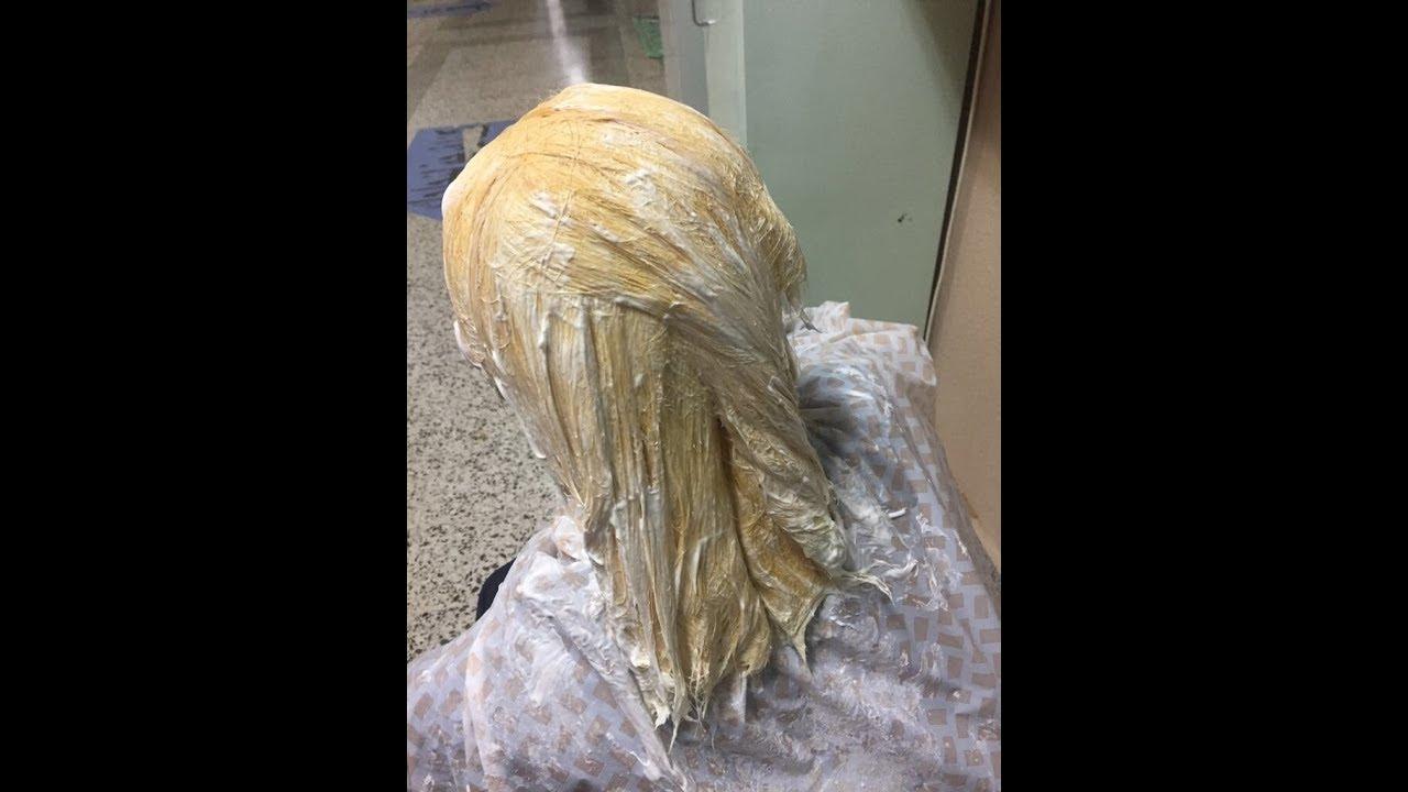 طريقة سحب لون الشعر في المنزل Decapage Cheveux Youtube
