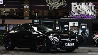 C63 AMG gets a Dechrome and Wheel Tints | Polish & Glow