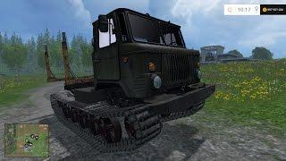 Farming Simulator 2015. Мод: ГАЗ-66 на гусеницах. (Ссылка в описании)