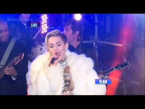 HD Miley Cyrus   Get It Right  Wrecking Ball   New Year's Rockin' Eve 2014
