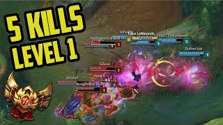 5 kills level 1 gg get me out of gold ranked journey 17 league of legends