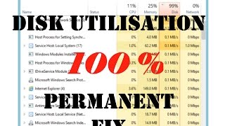 How to fix 100% disk usage at startup in windows 8/8.1/10 [100% Working]