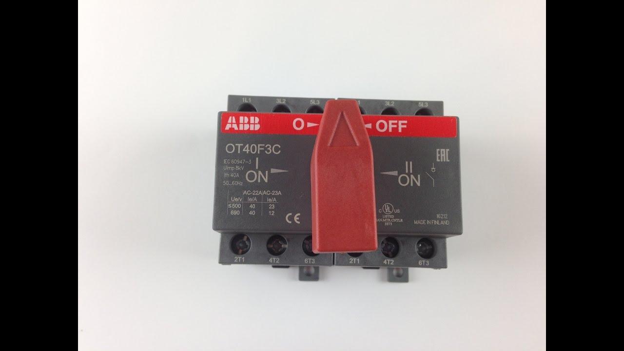 ABB OT40F3C Реверсивный перекидной рубильник.
