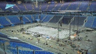 «Зенит-ТВ»: «Газпром Арена» готовится к хоккейным матчам