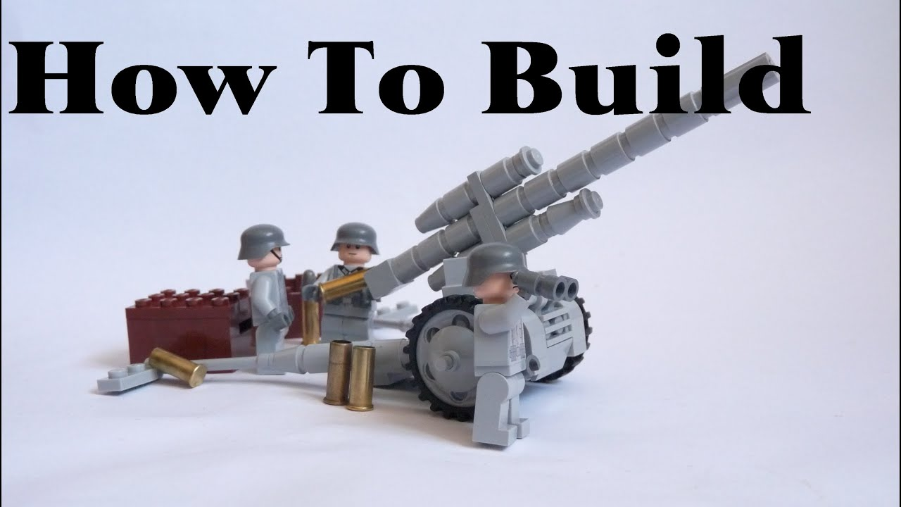 Tutorial How To Build Feldhaubitze 18 Lego Ww2  Youtube