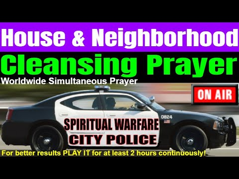 Live HOUSE CLEANSING PRAYER & NEIGHBORHOOD BLESSING, by Brother Carlos. Let it play all day