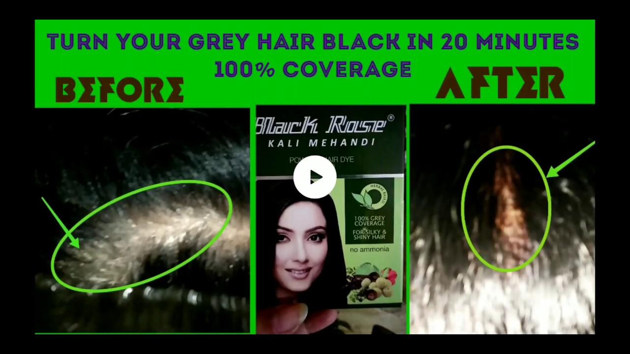 Black Rose Natural Kali Mehndi Powder Hair Dye Review Youtube