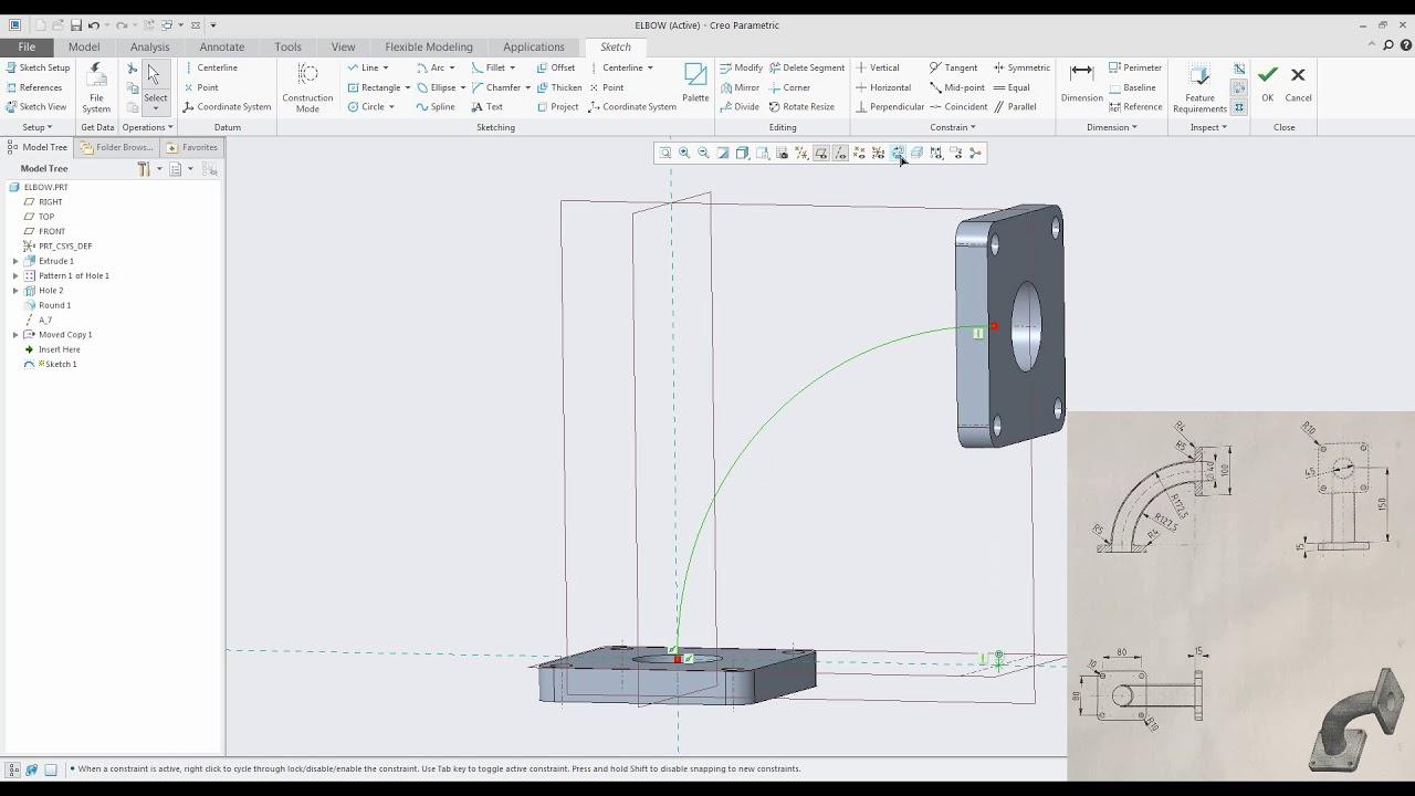 Creo Parametric Sketch Pattern