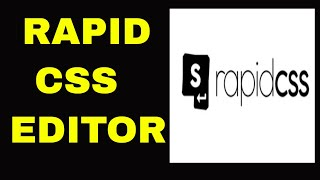 How to install Rapid CSS Editor 2018
