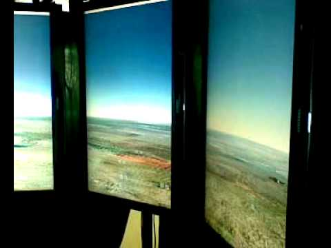 Spectacular Google Earth 180 Holodeck booth at Google Headquarters in Mountain View (CA)