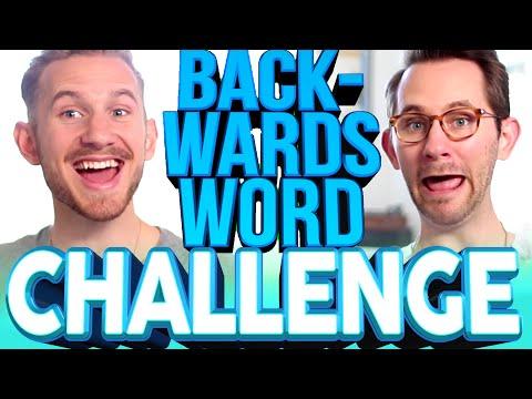 BACKWARDS WORD CHALLENGE | Matthias & J-Fred [PART 1]