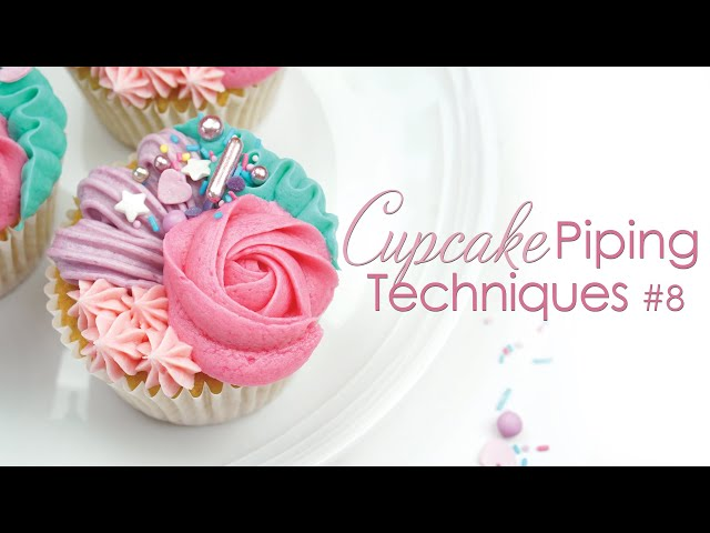Buttercream Cupcake Piping Techniques #8