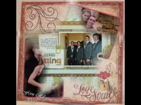 Simple Engagement Scrapbook Page Ideas Youtube