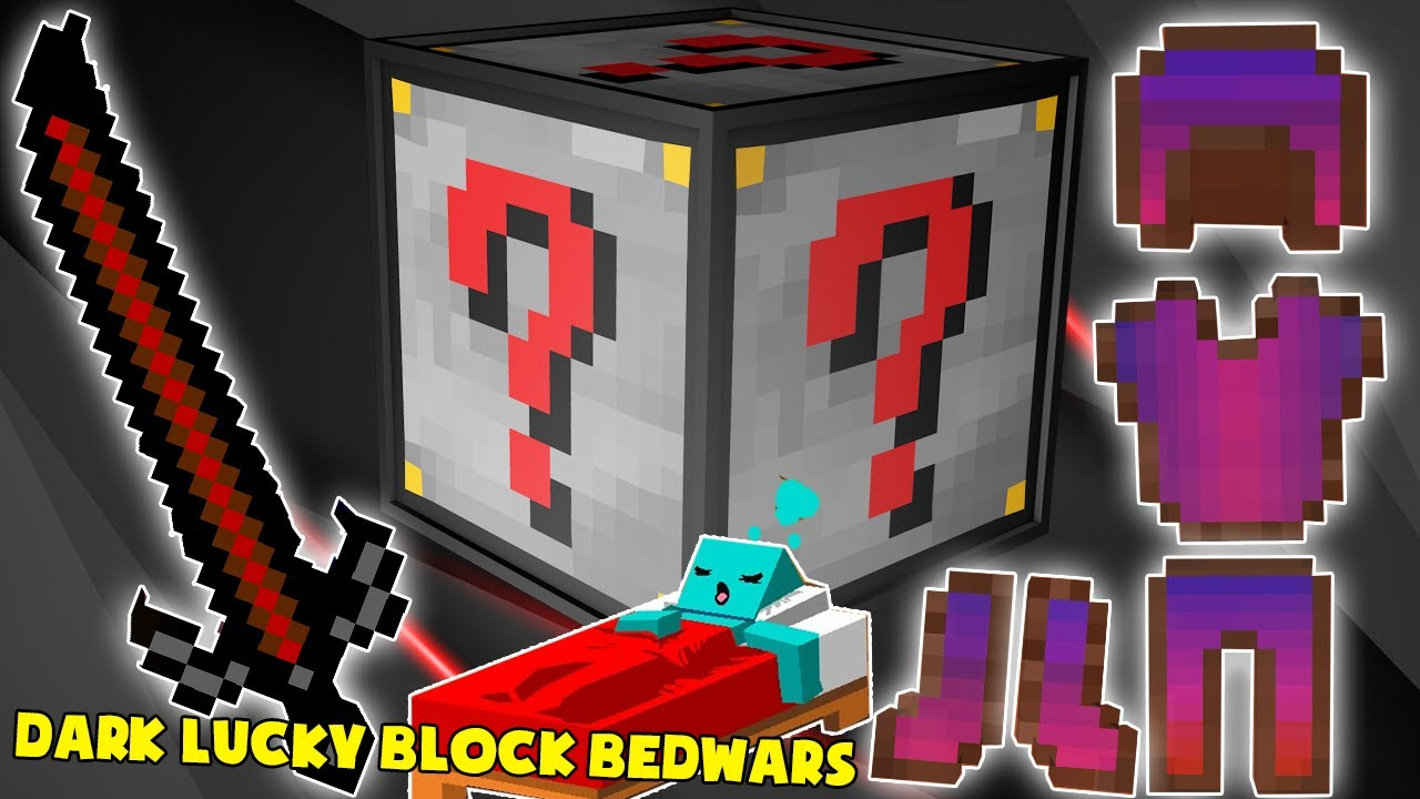 MINI GAME : DARK LUCKY BLOCK BEDWARS ** CHỈ MỘT ĐỒ THÔI CŨNG BẤT TỬ ??