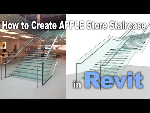 Revit Tutorial | Tips And Tricks | Create Apple Store Glass Staircase In Revit