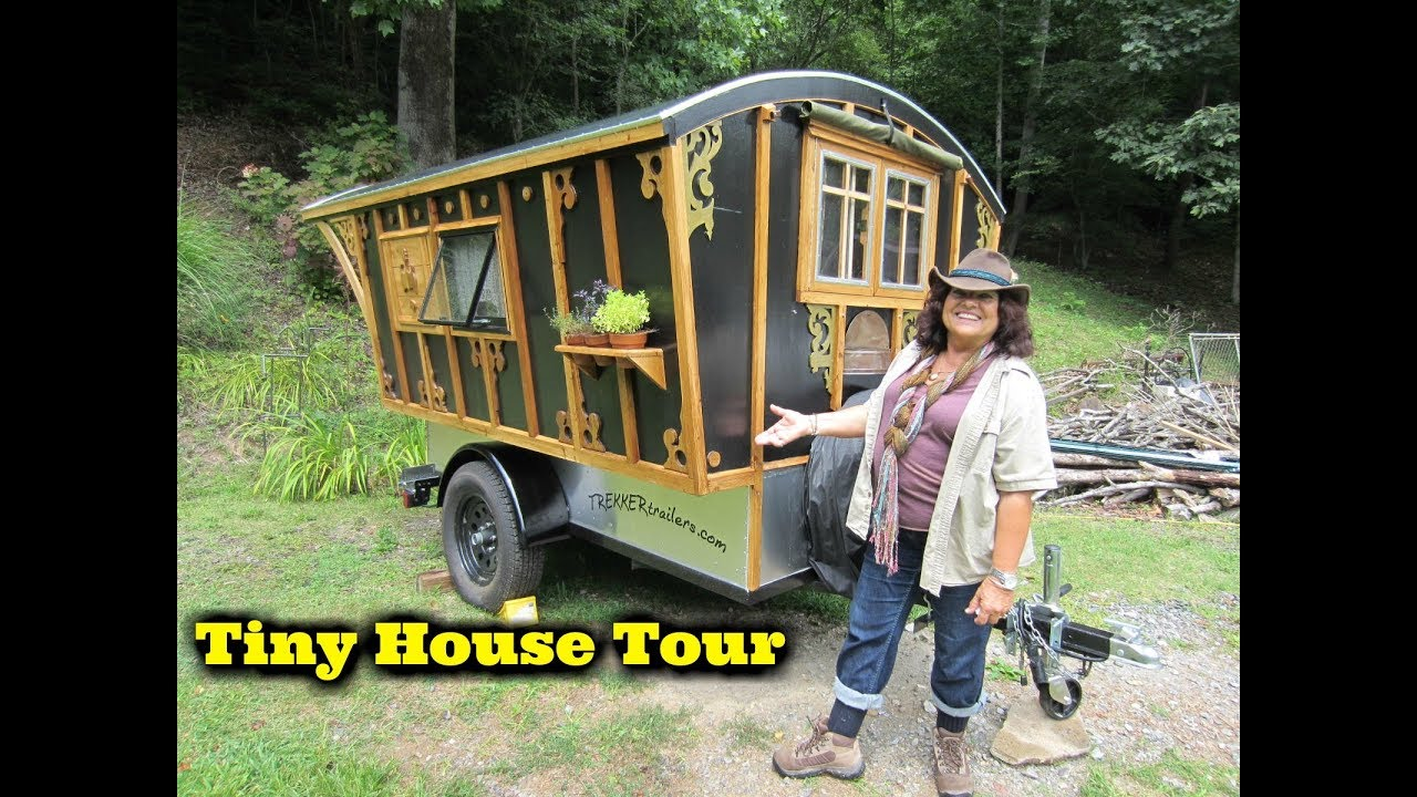 Tiny House On Wheels gypsy tiny house on wheels tour - youtube