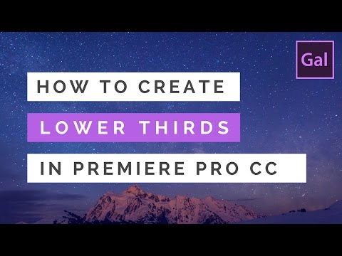 How to Create Lower Thirds & Titles in Premiere Pro CC