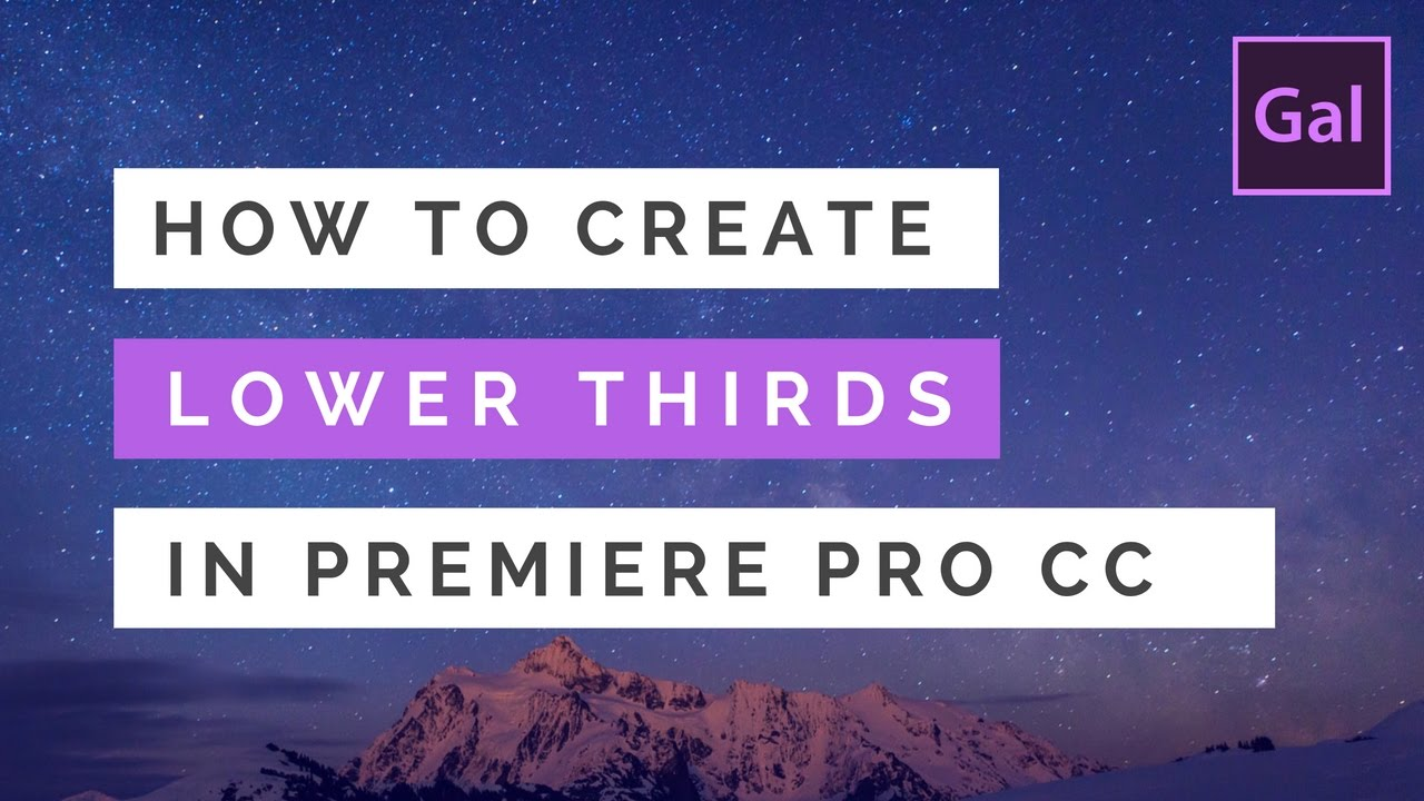 how to create lower thirds titles in premiere pro cc youtube