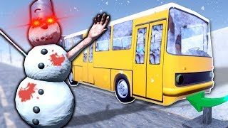 zombie-snowman-survival-the-long-drive-gameplay