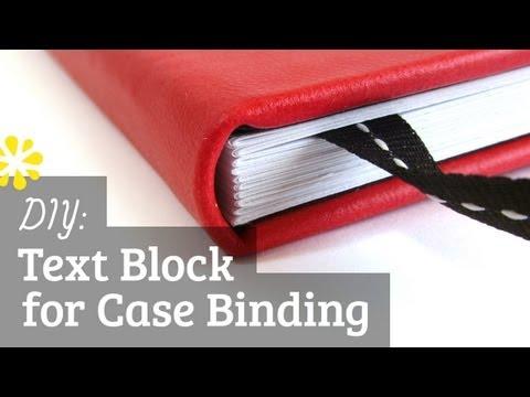 DIY Text Block   Case Bookbinding Tutorial   Sea Lemon