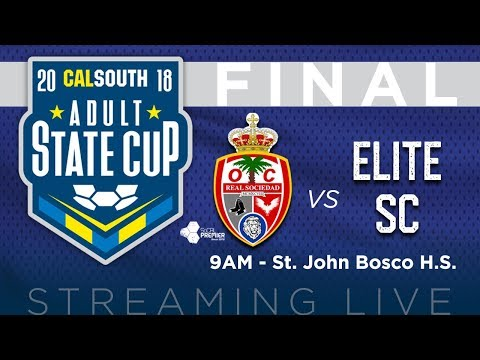 Cal South Adult State Cup Men's Over 30 Final: Real Sociedad Angels vs. Elite SC