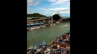 宜蘭南方澳跨港大橋 瞬間坍塌畫面