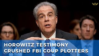 "Don't be fooled by ""no political bias"" lie. Horowitz testimony crushed FBI coup"